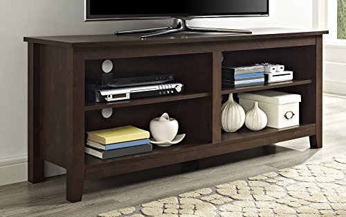 WE Furniture Minimal Farmhouse TV Stand for TV's up to 64