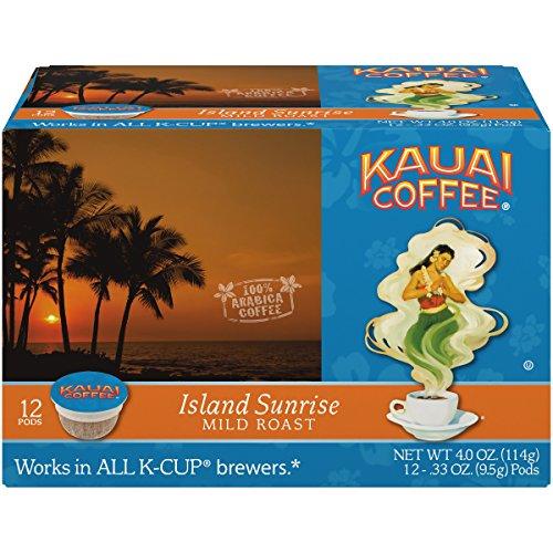Kauai Coffee Single-serve Pods, Island Sunrise Mild Roast - 100% Premium Arabica Coffee from Hawaii's Largest Coffee Grower, Compatible with Keurig K-Cup Brewers - 72 ()
