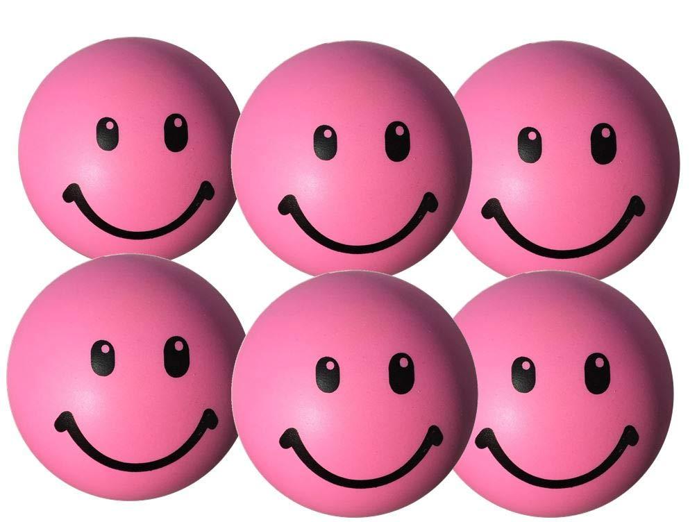 StressCHECK Pelota Anti Estrés - 6 x Bola Anti-Estrés Color Rosa ...