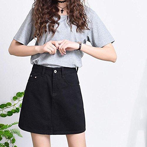 Jupe Jupe Ample Noire Longue en Black Loose pour Mi Femme Jupe Jean qZWUIrCwZ
