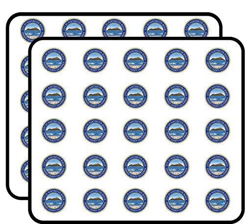 Huntington Beach Orange County California City Seal (Logo ca west Coast) Sticker for Scrapbooking, Calendars, Arts, Kids DIY Crafts, Album, Bullet -
