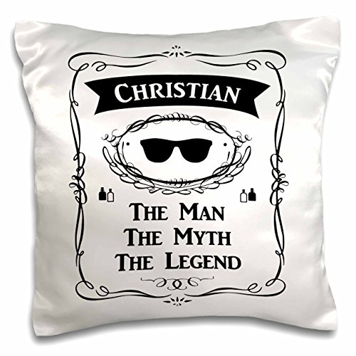 3D Rose Christian the Man the Myth the Legend Name Personalized Gift Pillow Case, 16'' x 16'' by 3dRose