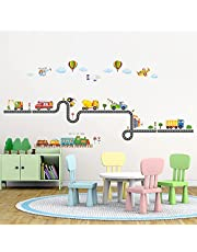 DECOWALL SG-2107 Construction Transportation on the Road Kids Wall Stickers Decals Peel and Stick Removable for Nursery Bedroom Living Room art murals decorations