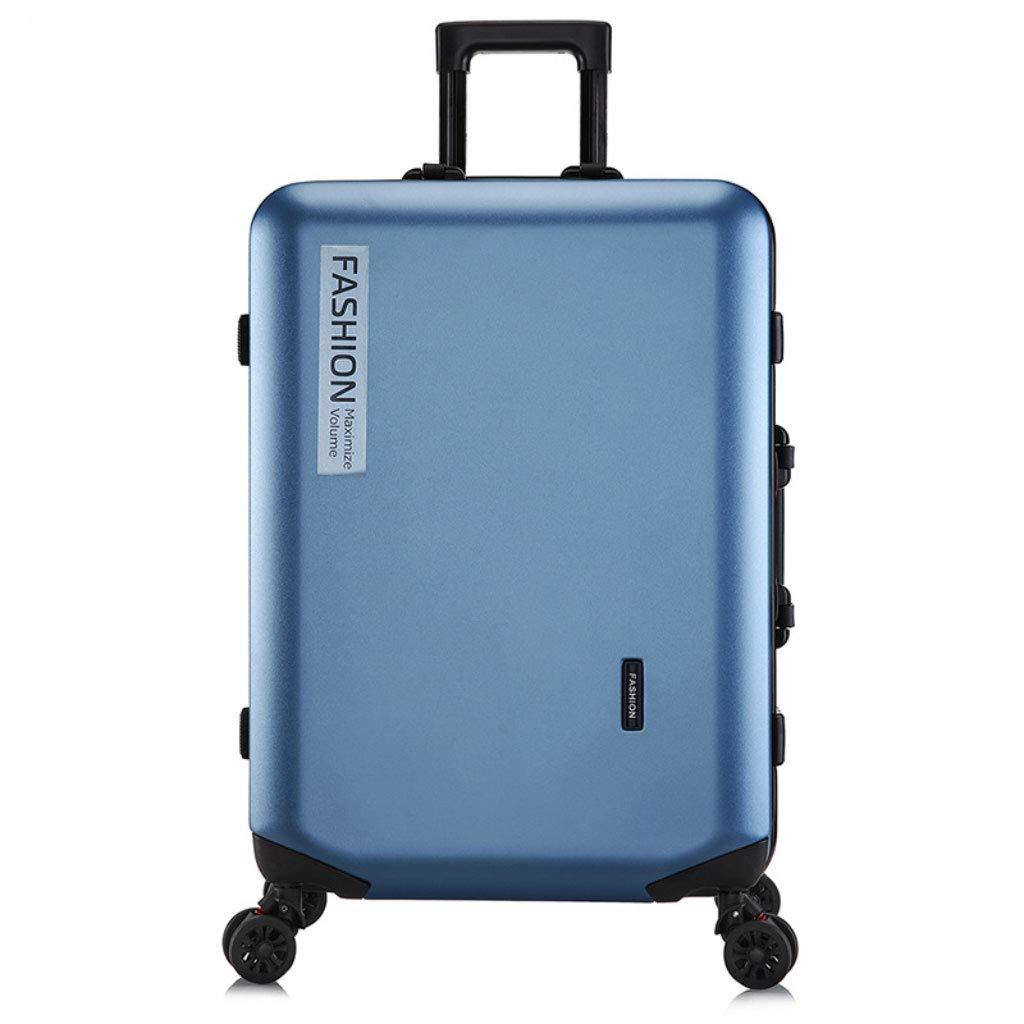 トロリーボックスカスタムPCジッパーユニバーサルホイール荷物ファッションビジネスパスワード20インチのボーディングアウトドアスーツケース (Color : Ice blue, Size : 22 inches)   B07R6PKD6K