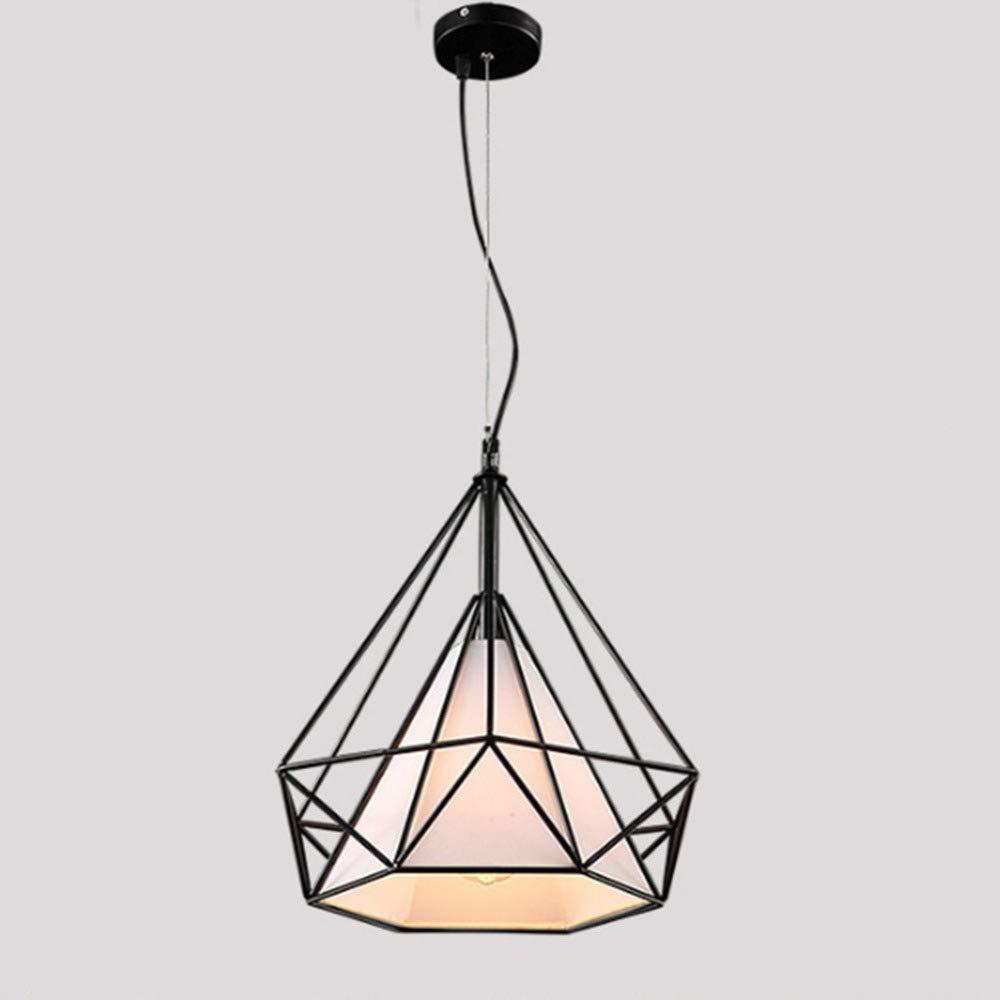 FAFY Restaurant Licht Deckenleuchten Industrielles gemäßtes Eisen-hängendes Licht, Kreative hängende Droplight-Lampe, E27 Sockel, 220V, Keine Birnen,schwarz-25  28cm