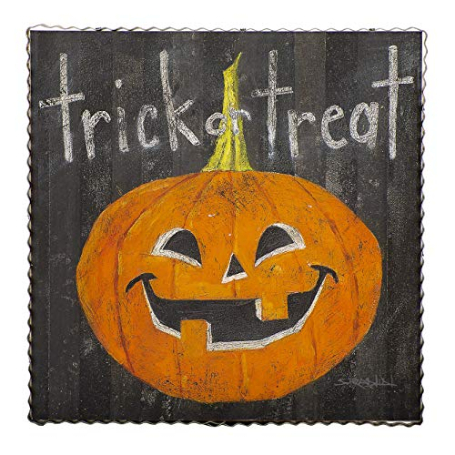 (The Round Top Collection - Gallery Trick or Treat Jack O 'Lantern - Metal & Wood )