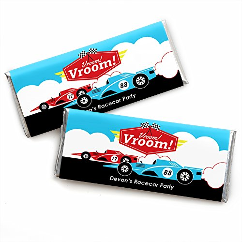 - Personalized Let's Go Racing - Racecar - Custom Race Car Birthday Party or Baby Shower Party Favors Candy Bar Wrapper - Set of 24