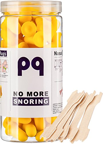 PQ Earplugs to Sleep in - 35 Pairs & 10 Nasal Stripes for Your Healthy Sleep! by Peace&Quiet
