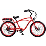 "Pedego Interceptor 26"" Classic Neon Orange with Black Balloon Package 48V 15Ah"