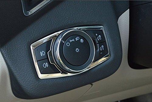 Chrome Inner Headlight&fog Switch panel Cover trim for Ford Fusion EXPLORER Escape RaxTDM