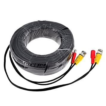 BNC DC CCTV Security Video Camera DVR Data Power Extension Cable 20m 30m 40m 50m