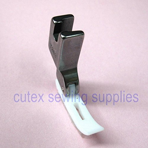 CUTEX SEWING Narrow Zipper Foot With Teflon Bottom For Industrial Sewing Machine #T363