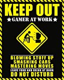 Pyramid America Keep Out Gamer at Work Warning Sign Poster 16x20 inch