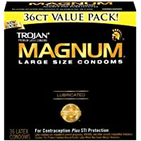 Trojan Lubricated Condom, Magnum and Large, 36 Count