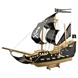 model boats kits to build wood - MXTECHNIC 3D Assemble Puzzle,Wooden Pirate Ship Model Boat Kits(129pcs) Sailing Boat Model Kits for Adults