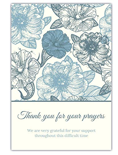 20 Celebration of life Funeral thank you cards with envelopes acknowledgment memorial Sympathy remembrance Thank you Cards