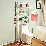 DIDIDD Shelf-Hwf Bathroom Shelves Stainless Steel Toilet Shelf Bathroom Multi-Function Storage Rack(6056175Cm)