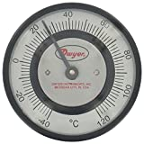 Dwyer® Pipe-Mount Bimetal Surface Thermometer, STC141, 0 to 150°F, 3/4'' to 7/8'' Pipe