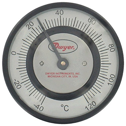 Dwyer® Pipe-Mount Bimetal Surface Thermometer, STC341, 0 to 150°F, 1'' to 1-5/8'' Pipe by Dwyer