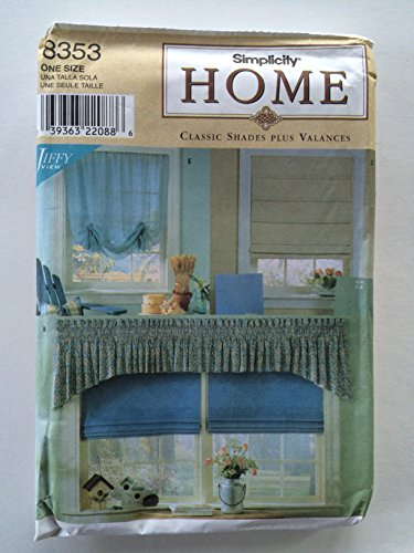 Simplicity Roman Shades Sewing Pattern # 8353