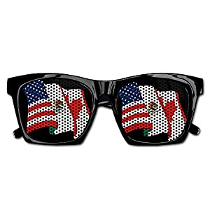 TyYJ USA Mexico Canada Flag Wedding Visual Mesh Lens Sunglasses Resin Frame Eyewear Party Favor Gifts