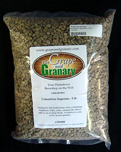 Colombian Supremo unroasted Coffee Beans (5LB)