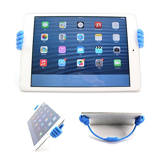 Ok Stand Newly Release - Universal Flexible Thumb Smartphone Stand Holder,tablet Mount Holder, for Apple Ipad Mini Amazon Kindle Iphone 6 6 Plus 5s 5s 5c 5 Samsung Galalxy S3 S4 S5 Note 2 Note 3 Note 9,universal Mount Fits Most HTC Sony Motorola Blackberry Q Series - - Blue Color - 2014 Newly Innovation with U-win Pen