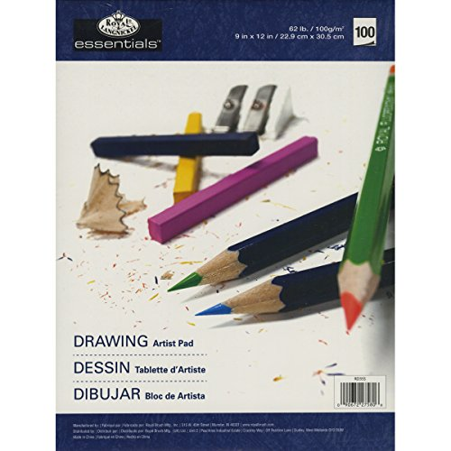 Price comparison product image Royal Langnickel 100-Sheet Drawing Essentials Artist Paper Pad, 9-Inch by 12-Inch
