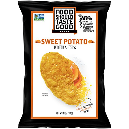 Whole Grain Tortilla Chips - Food Should Taste Good, Tortilla Chips, Sweet Potato, Gluten Free Chips, 11 oz