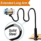 Photo : Cell Phone Clip on Stand Holder - with Grip Flexible Long Arm Gooseneck Bracket Mount Clamp for iPhone X/8/7/6/6s Plus Samsung S8/S7, used for bed, desktop