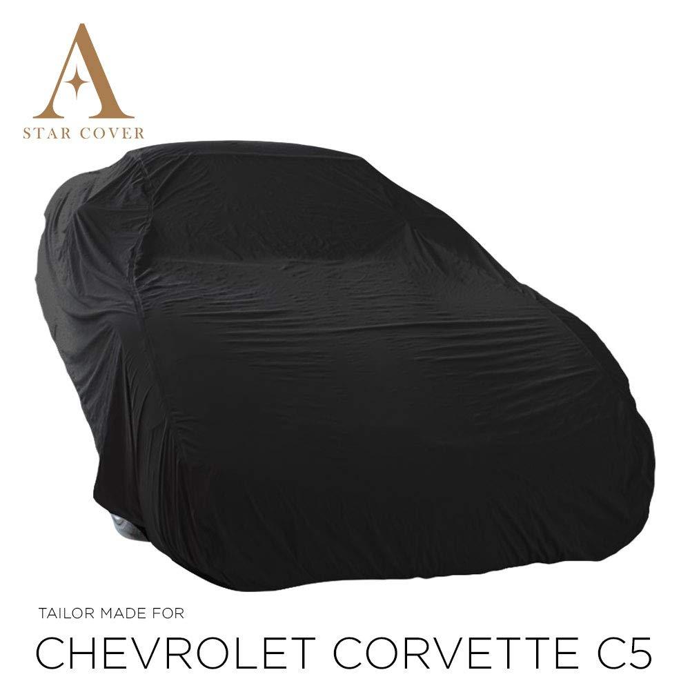 Entrega R/ÁPIDA 100/% Impermeable Y Transpirable | Negro Cubierta DE Coche Exterior C5 Star Cover Funda DE Exterior Chevrolet Corvette Cubierta Auto