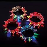 Light-up Flashing LED Spike Bracelets (2 Dozen - 24 Pcs)