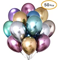 50pcs/Set Multi Color Foil Balloon Party Supplies Banner Paper Garland For Happy Birthday Party Decoration Kids Baby…