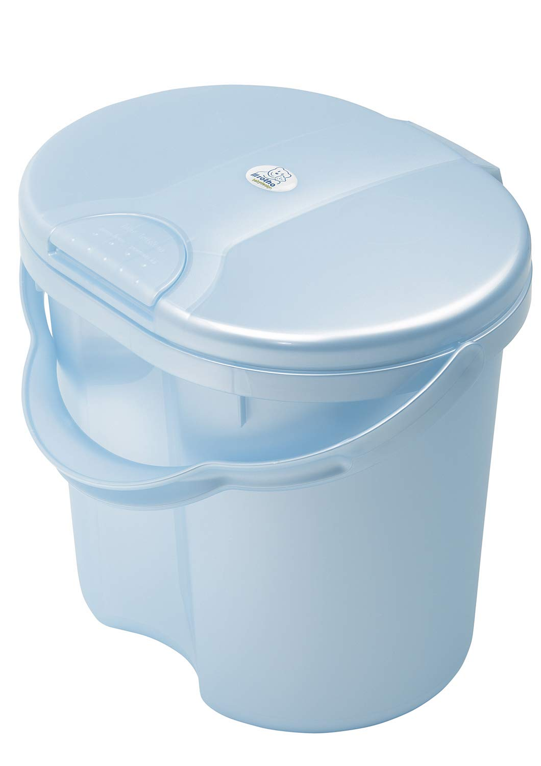 Rotho Baby Design Topline Nappy Pail, Baby Blue