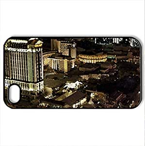 Las Vegas at Night - Case Cover for iPhone 4 and 4s (Modern Series, Watercolor style, Black)