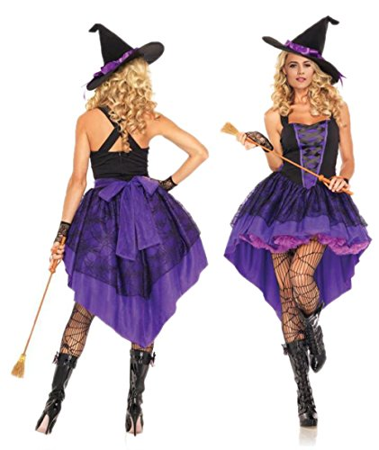 [Adult Broomstick Babe Witch Costume Halloween Sexy Costumes (XL)] (Broomstick Babe Halloween Costume)
