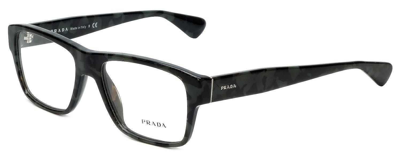 454f09d69ae Prada PR17SV Eyeglasses 53-17-140 Spotted Brown Green w Demo Clear Lens  UEM1O1 VPR17S VPR 17S PR 17SV  Amazon.co.uk  Clothing