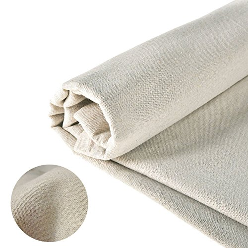 Linen Fabric Natural Cotton 1 Yard Sewing DIY Cloth Embroidery Cloth Table Cloth Garments 62