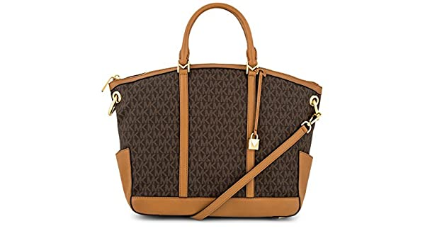 631eb4a7d567 Michael Kors 30T7GBUS3B-200 Beckett Large Logo Satchel - Brown  Amazon.ca   Sports   Outdoors
