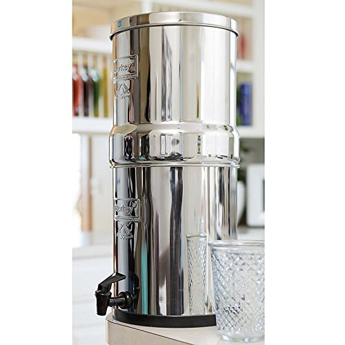 Berkey BK4X2-BB Big Berkey Stainless Bear up Water Filtration System with 2 Black Filter Elements