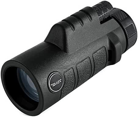 Polaris Optics Spotter 10X42 Compact Bird Watching Monocular. Bright and Clear. Easy One Hand Focus with Rock-Solid Body Armor Means You'll Want to Take This Waterproof Monocular Everywhere