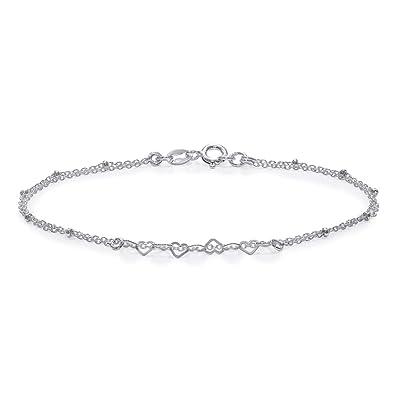 60da3e237 Taraash 925 Sterling Silver Heart Bracelet for Women BRML006: Amazon.in:  Jewellery