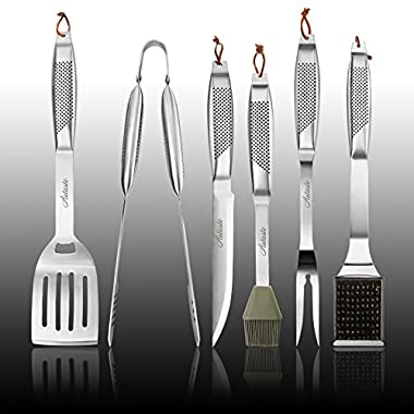 Artaste 59014 6-Piece Stainless Steel Hollow Handle Barbecue Tool Set