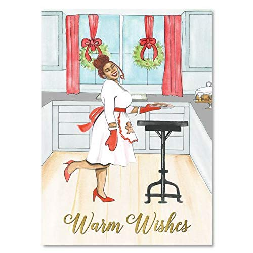 """Search : African American Expressions - Warm Wishes Cookies Boxed Christmas Cards (15 cards, 5"""" x 7"""") C-952"""