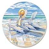 CounterArt Decorative Absorbent Coasters, Time for Two, Set of 4