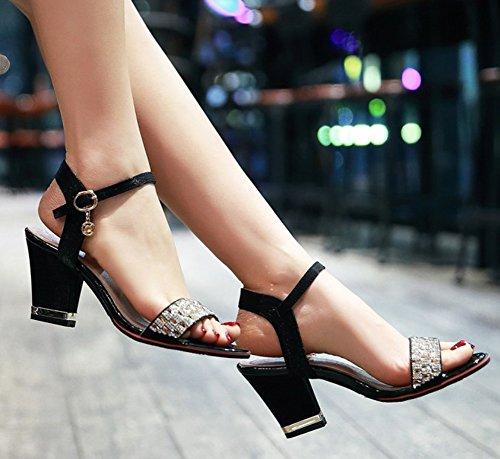 Da Cinturino Alla Medio Aisun Caviglia Donna Sandali Tacco Con twfqfXg7