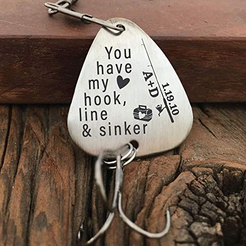 Personalized Valentines Day Gift Fishing Lure Men