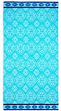 COTTON CRAFT - Oversized Woven Velour Beach Towel - Huge 58x68-inch Size - 100% Cotton - Plush Beach Blanket - Swim Towel for Two - Summer Trellis - 450 GSM - Each Towel Weighs 2.52 Lbs.