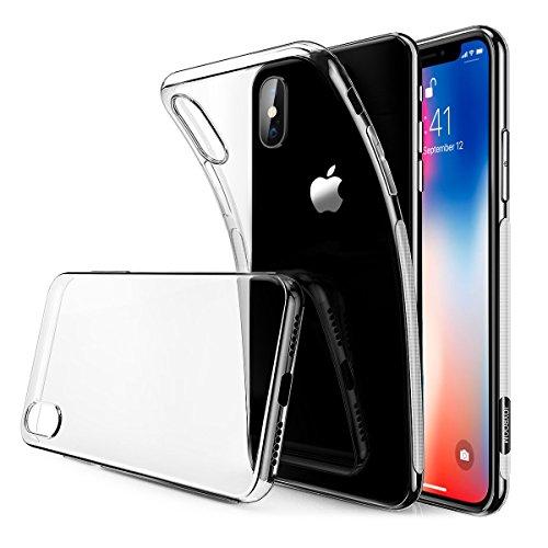スマホケース iPhone X ケース 5.8インチ 高品質 耐衝撃 クリア TPU シリコン 指紋防止 ソフト 超薄型 超軽量 透明 アイフォンX カバー