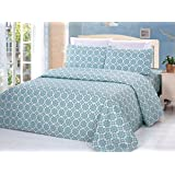Bamboo Living 3 Piece Printed Duvet Cover Set - Queen - Geometric 2